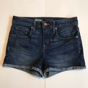 Mossimo by Target High Rise Dark Wash Shorts